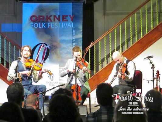 The Nordic Fiddlers Bloc beim Orkney Folk Festival 2015 - Opening Concert ©Sabine Mey-Gordeyns