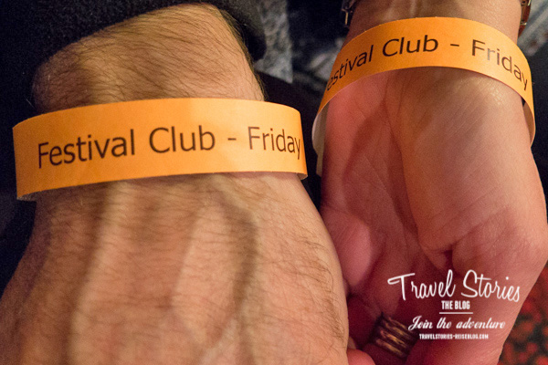 Festival Club: der späte Anfang um 22.30 Uhr ist für uns eine Herausforderung! ©Sabine Mey-Gordeyns