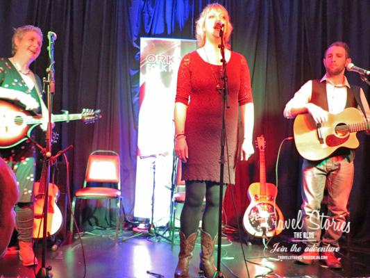Jo Philby Band beim Orkney Folk Festival 2015 - Festival Club ©Sabine Mey-Gordeyns