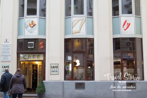Fassade vom Cafe Hawelka
