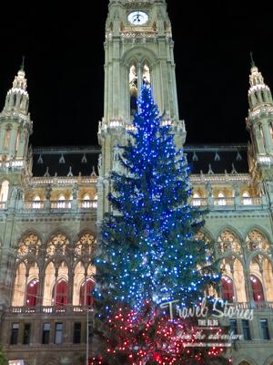 Rathaus Wien mit Christbaum