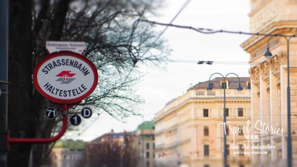 Tramhaltestelle in Wien