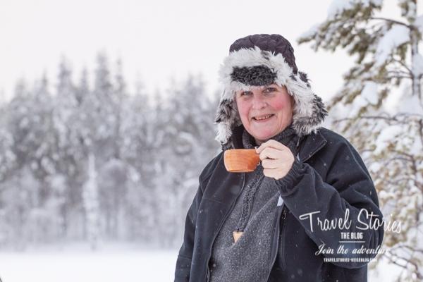 Karin Vikström sorgt für das leibliche Wohl der Gäste ©Sabine Mey-Gordeyns