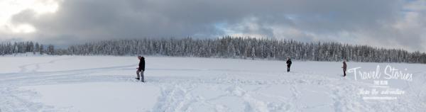 Schnee, Einsamkeit, Wildnis - und wir! ©Sabine Mey-Gordeyns