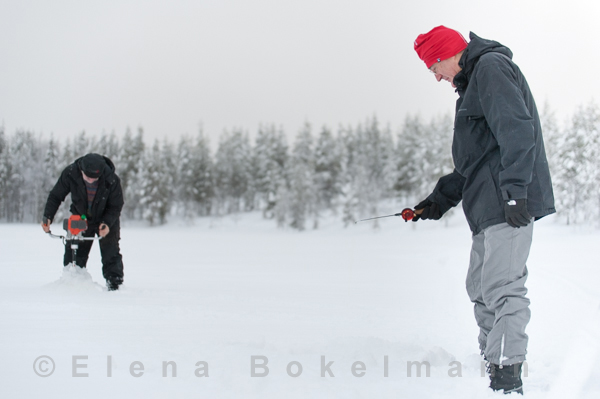 Eisfischen für Amateure und Profis ©Elena Bokelmann
