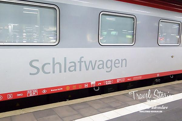 Schlafwagen vom EN 421 nach Wien ©Sabine Mey-Gordeyns