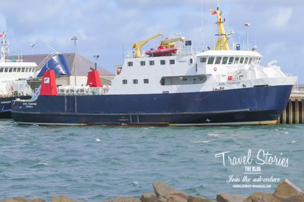 MV Earl Thorfinn im Hafen von Kirkwall ©Sabine Mey-Gordeyns