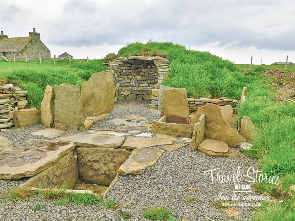 Sanday's Burnt Mound - Kochstelle aus der Bronzezeit ©Sabine Mey-Gordeyns