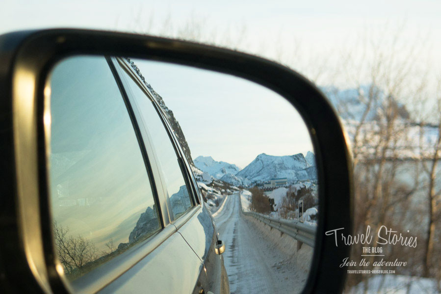 Immer im 360 Grad Modus auf den Lofoten im Winter ©Sabine Mey-Gordeyns