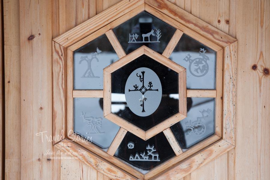 Auch Details sind liebevoll mit Lappland-Motiven gestaltet ©Sabine Mey-Gordeyns