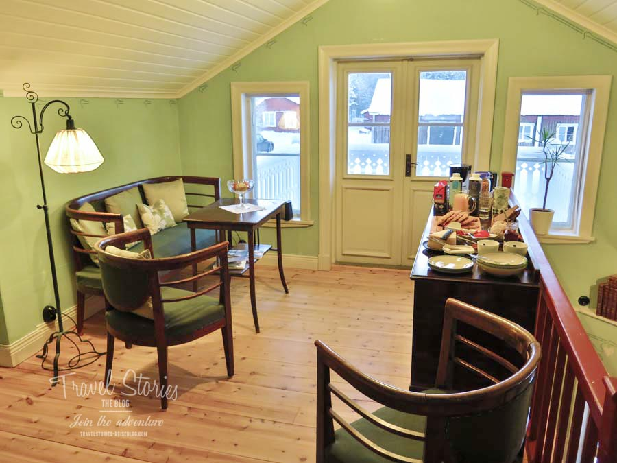 Der Frühstücksraum im B&B Sävar Kulturträdgard bei Umea ©Sabine Mey-Gordeyns
