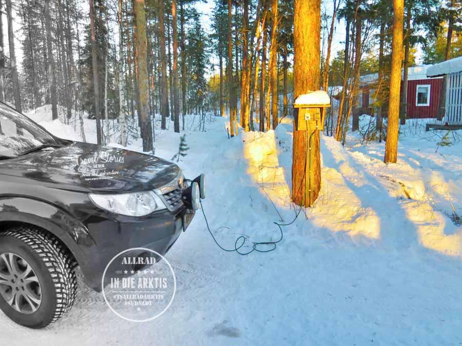Nach eiskalten Nächten mit bis zu -27 Grad Celsius springt der Motor morgens dank Motorwärmer zuverlässig an ©Sabine Mey-Gordeyns