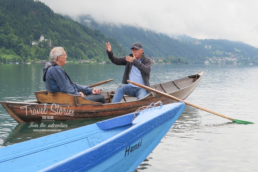 Der alte Mann und der See: Gottlieb gibt sein Wissen gerne an Gäste weiter ©Sabine Mey-Gordeyns, travelstories-reiseblog.com