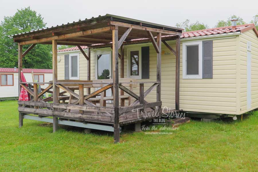 Mobilheim Sun Roller mit vorgebauter Holzveranda ©Sabine Mey-Gordeyns, travelstories-reiseblog.com