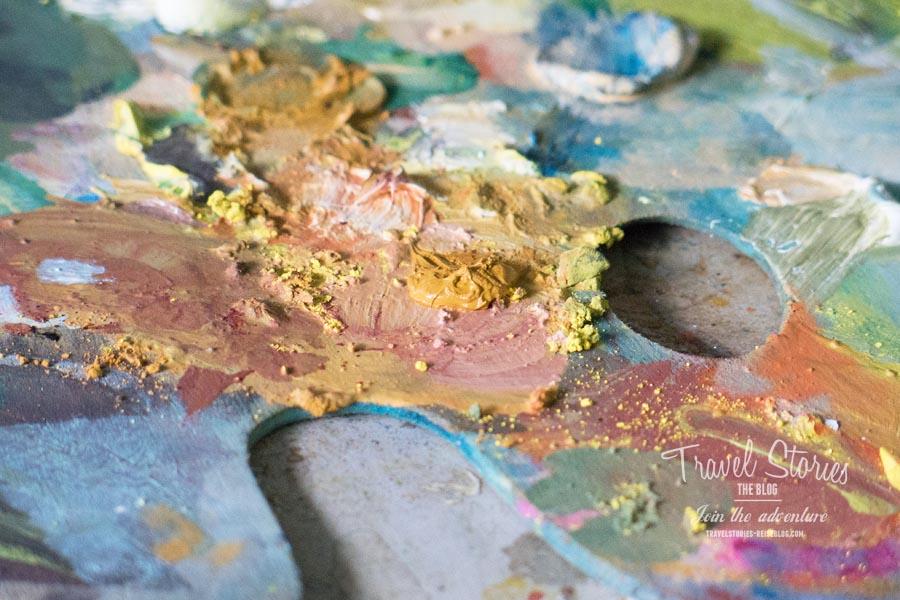 Die Palette einer Künstlerin ©Sabine Mey-Gordeyns, travelstories-reiseblog.com