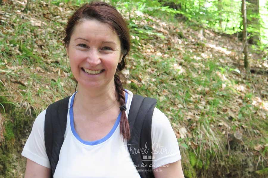 Katharina Kupper-Wernig, unsere gut aufgelegte Wanderführerin ©Sabine Mey-Gordeyns, travelstories-reiseblog.com