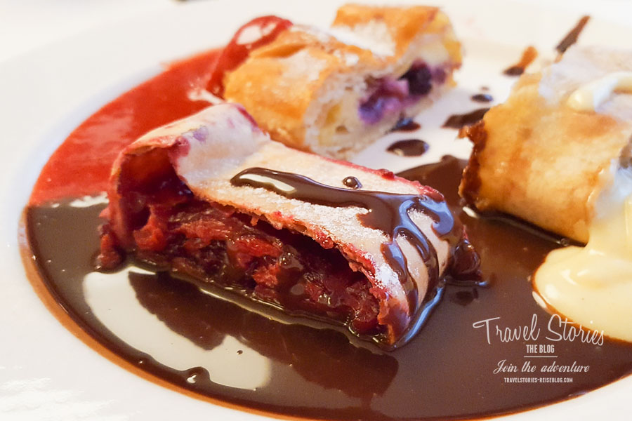 Strudelvariation zum Dessert © Sabine Mey-Gordeyns, travelstories-reiseblog.com