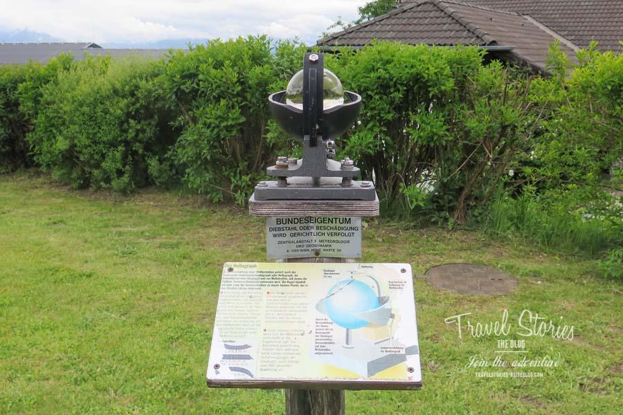 Der Heliograph - früher wurden so die Sonnenstunden aufgezeichnet © Sabine Mey-Gordeyns, travelstories-reiseblog.com
